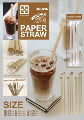 Brown Paper straw